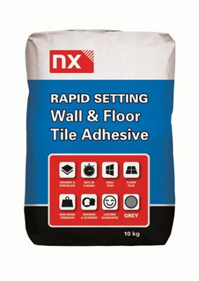 Norcros Rapid Setting Tile Adhesive Grey 10kg Wickes Co Uk
