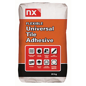 Image of Norcros Universal Flexible Tile Adhesive White 20kg