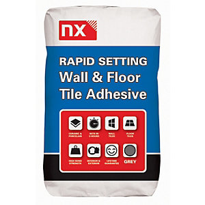 Image of Norcros Rapid Setting Tile Adhesive Grey - 20kg