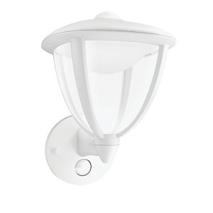 Philips Robin White Wall Lantern with PIR - 4.5W