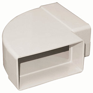 Manrose PVC White Horizontal Bend Rectangle 90 Degree - 110 x 54mm