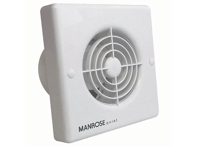 Manrose Quiet Bathroom Extractor Fan With Timer