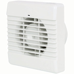 Manrose Bathroom Extractor Fan with Humidistat - White 100mm