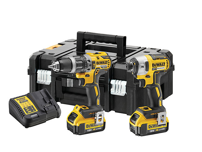 DeWalt DCK266M2T 18V 2 X 4.0Ah XR Brushless Hammer Drill And Impact Driver Twin Pack