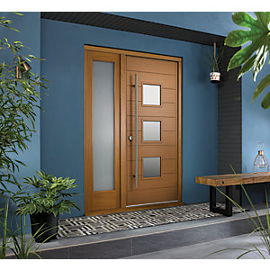 Image of JCI Ultimate Door Frame with Single Side Light Oak 1981 x 610mm