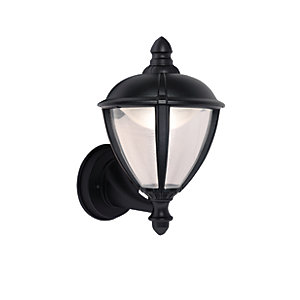Image of Lutec Black Unite Wall Lantern - 6.5W