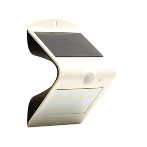 Image of Luceco Solar Guardian LED White PIR Wall Light - 1.5W