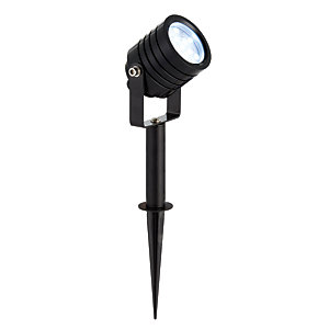 Luminatra LED Black RGB Spike Light with alluminium alloy construction - 2.5W