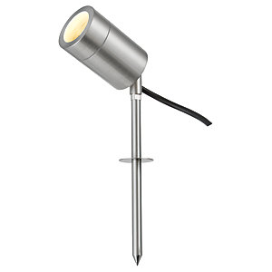 Saxby Harlem LED Compatible Brushed Chrome Spike Light - 6W