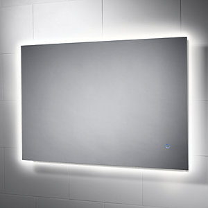 Image of Wickes Albany Backlit Metal & Glass LED Mirror