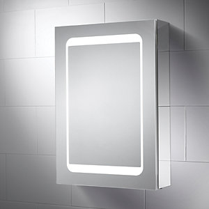 Image of Wickes Earth LED Mirror Cabinet with Integrated Shaver Socket
