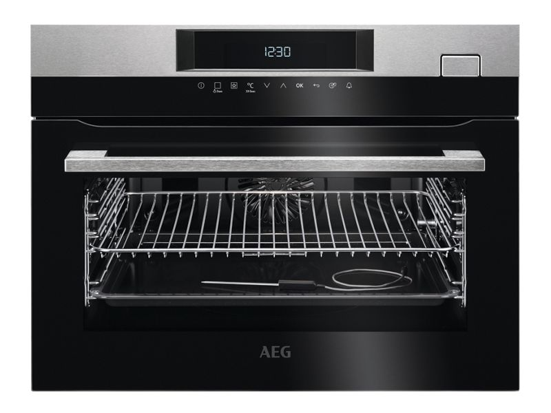 AEG Built-In Compact Steam Boost Multifunction Stainless Steel Steam Oven