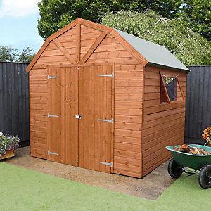 Mercia 8 x 8 ft Premium Timber Shiplap Apex Dutch Barn Shed