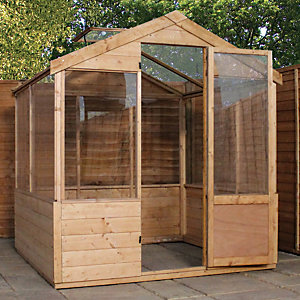 Image of Mercia 4 x 6 ft Wooden Apex Greenhouse with Assembly