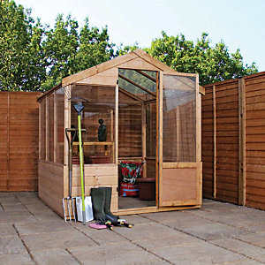 Image of Mercia 6 x 6 ft Wooden Apex Greenhouse with Assembly