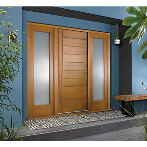 Image of JCI Ultimate Door Frame with Double Side Light Oak 1981 x 457mm