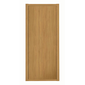 Spacepro Shaker 1 Panel Oak Frame Oak Door