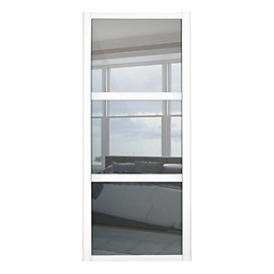 Spacepro Shaker 3 Panel White Frame Mirror Door