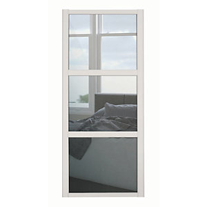Spacepro Shaker 3 Panel Cashmere Frame Mirror Door
