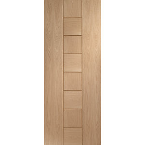 XL Verona Internal Oak Veneer Fire Door with Clear Glaze - 1981 x 838mm