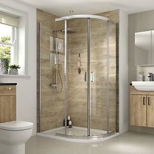 Wickes Florence 1200 x 900mm - Off-Set Quadrant Shower Enclosure - Chrome