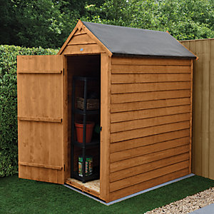 Forest Garden Small Apex Overlap Dip Treated Windowless Shed - 3 x 5 ft with Assembly