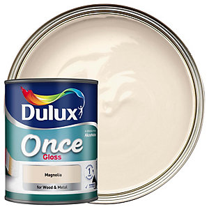 Dulux Once Gloss Magnolia 750ml