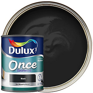 Dulux Once Satinwood Black 750ml