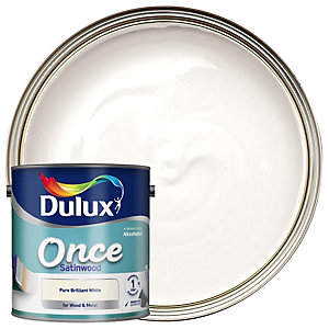 Dulux Once Satinwood Pure Brilliant White 2.5L