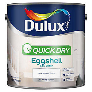 Dulux Quick Dry Eggshell Pure Brilliant White 2.5L