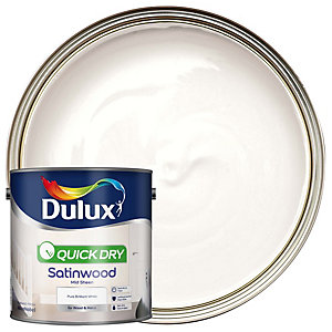 Dulux Quick Dry Satinwood Pure Brilliant White 2.5L