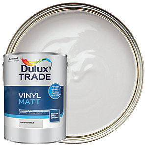 Dulux Trade Vinyl Matt Emulsion Paint - Polished Pebble 5L