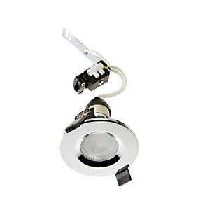 Wickes Chrome Shower Light Fitting with Cool White Cob LED - 5W GU10