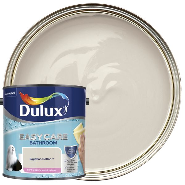 Dulux Easycare Bathroom - Egyptian Cotton - Soft Sheen Emulsion Paint 2.5L