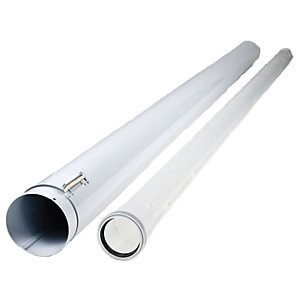 Image of Heatline Boiler Air/Flue Duct Extension Pipe - 2m