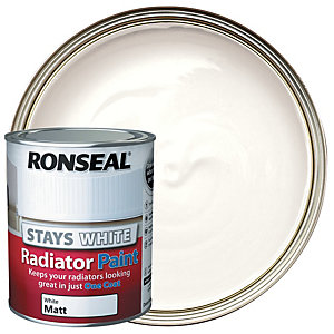 Ronseal Stays White Radiator Paint White Matt 750ml