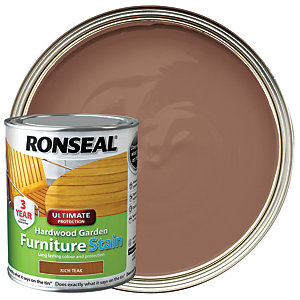 Ronseal Ultimate Protection Hardwood Garden Furniture Stain - Rich Teak 750ml
