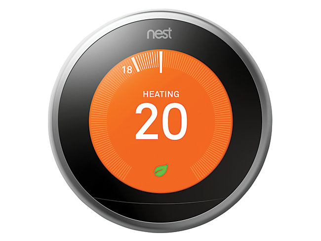 Nest Learning Smart 3rd Gen Stainless Steel Thermostat
