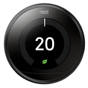 Image of Google Nest Learning Smart 3rd Generation Black Thermostat