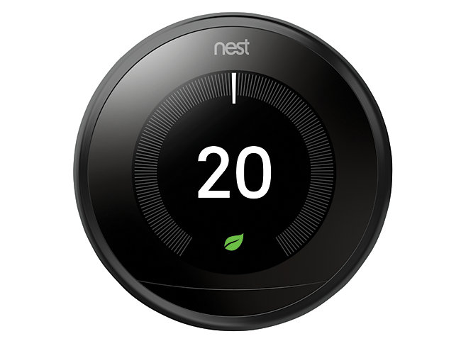 Nest Learning Smart 3rd Generation Black Thermostat