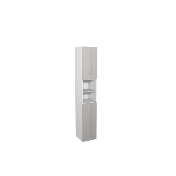 Wickes Vermont Grey On White Floorstanding Tall Tower Unit - 300 x 1762mm