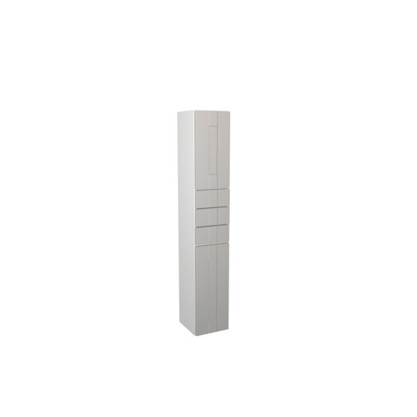 Wickes Vermont Grey On White Multi-drawer Floorstanding Tall Tower Unit - 300 x 1762mm