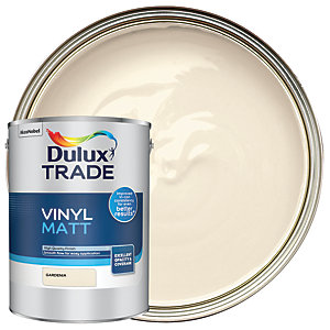 Dulux Trade Vinyl Matt Emulsion Paint - Gardenia 5L