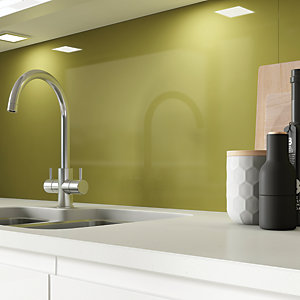 AluSplash Splashback - Bright Olive