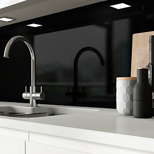 AluSplash Splashback - Ebony