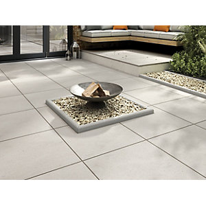 Marshalls Sawn Sandstone Smooth Grey Multi Paving Slab 600 x 600 x 22 mm