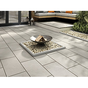 Marshalls Sawn Sandstone Smooth Grey Multi Paving Slab 600 x 300 x 22 mm