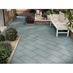 Marshalls Limestone Textured Blue Multi Paving Slab 600 x 300 x 22 mm