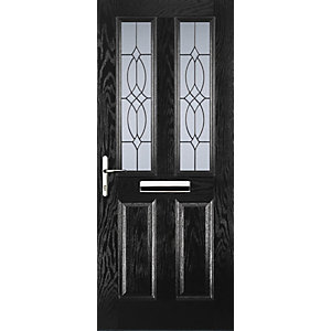 Euramax 2 Panel 2 Square Black Right Hand Composite Door