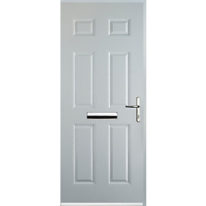 Euramax 6 Panel White Left Hand Composite Door
